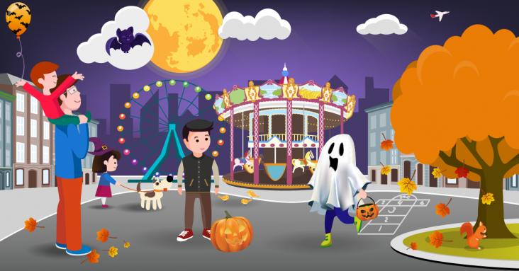 Страшно интересная афиша на Хэллоуин в Запорожье