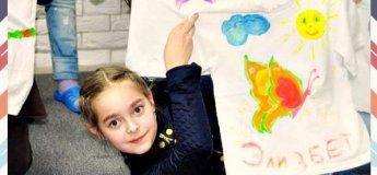 Роспись футболок акриловыми красками для детей