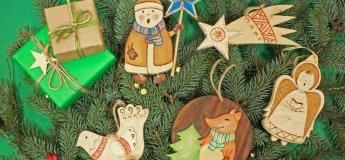 Праздничные игрушки на елочку