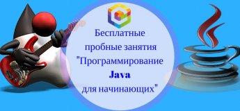 Бесплатные пробные уроки «Программирование Java для начинающих»